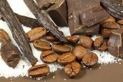Vanilla, chocolate and coffee Stock Image