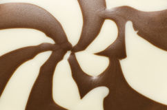 Vanilla and chocolate cream. Close up of vanilla and chocolate cream Royalty Free Stock Photography