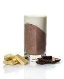 Vanilla chocolate dessert in a glass Stock Photo