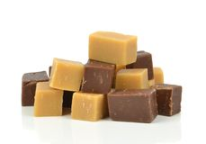 Vanilla and chocolate fudge Stock Photo