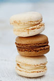 Vanilla and Chocolate Macarons Royalty Free Stock Photography