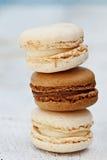 Vanilla and Chocolate Macarons Royalty Free Stock Photography