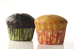 Vanilla and Chocolate Muffin Royalty Free Stock Photo