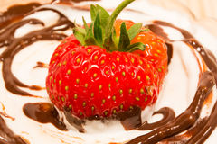 Vanilla, Chocolate and strawberry Royalty Free Stock Images