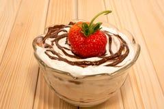 Vanilla, Chocolate and strawberry Stock Image