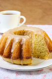 Vanilla and cinnamon bundt cake Royalty Free Stock Photo