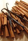 Vanilla and cinnamon Stock Image