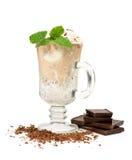 Vanilla and coffee ice cream Stock Image