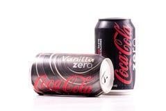Vanilla Coke Zero Cola. Vanilla Coke Zero Coca-Cola Royalty Free Stock Photos