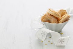 Vanilla cookies in a bowl Royalty Free Stock Photography