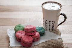 Vanilla Cookies and coffee Royalty Free Stock Photo