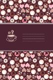 Vanilla cookies and cup of coffee card Royalty Free Stock Photography