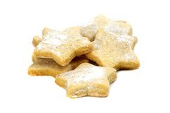 Vanilla cookies in star shape Royalty Free Stock Photography