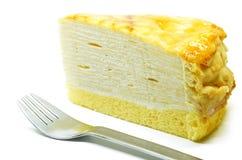 Vanilla crape cake Stock Images