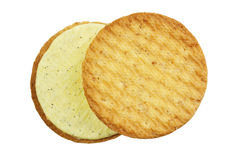 Vanilla cream biscuits Royalty Free Stock Photo