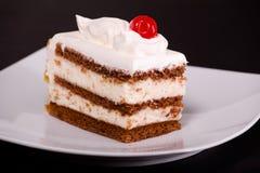 Vanilla Cream Cake Stock Image