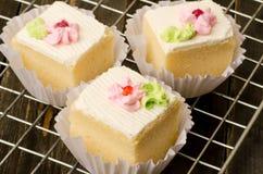 Vanilla cream cake Stock Images