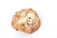 Vanilla cream danish Royalty Free Stock Images