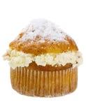 Vanilla cream muffin. Stock Photo
