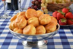 Vanilla cream puffs Stock Image