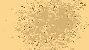 Vanilla creamy background with a large beige spot in the middle. And a slight brown noise around stock illustration