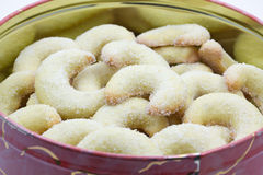 Vanilla crescent christmas cookies Royalty Free Stock Image