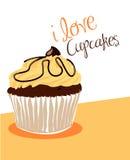 Vanilla cupcake. Illustration of a delicious cupcake Royalty Free Stock Photography