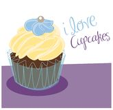 Vanilla Cupcake Royalty Free Stock Photography
