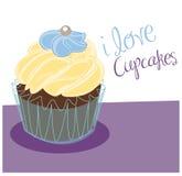 Vanilla Cupcake Royalty Free Stock Photography