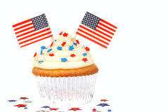 Vanilla cupcake with 4th of July theme Stock Photo