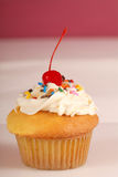 Vanilla cupcake with buttercream frosting Stock Image