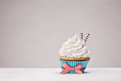 Vanilla Cupcake Stock Photography