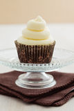 Vanilla cupcake with buttercream topping Stock Images