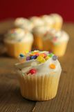 Cupcake with sprinkles Royalty Free Stock Images