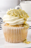 Vanilla cupcake with passion fruit Royalty Free Stock Photography
