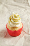 Vanilla cupcake with pistachio sprinkles Stock Images