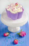 Vanilla cupcake Stock Images
