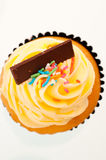 Vanilla cupcake top view Royalty Free Stock Photo
