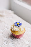 Vanilla cupcake with vintage styling Royalty Free Stock Photography