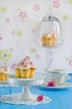 Vanilla cupcake w Royalty Free Stock Photos