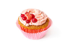 Vanilla cupcake with whipped cream Stock Image