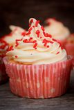 Vanilla cupcake Royalty Free Stock Photos