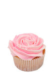 Vanilla Cupcake With Rose Icing Royalty Free Stock Photos
