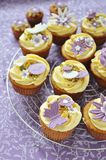 Vanilla Cupcakes. Most delicate vanilla cupcakes to welcome spring Stock Photography