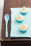 Vanilla cupcakes with buttercream topping Royalty Free Stock Images