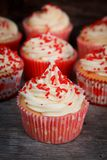 Vanilla cupcakes Royalty Free Stock Images