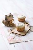 Vanilla Cupcakes Royalty Free Stock Photos