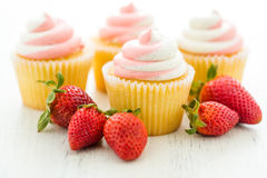 Vanilla cupcakes Stock Photography