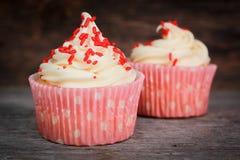 Vanilla cupcakes Royalty Free Stock Photography