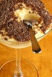 Vanilla custard and chocolate dessert Stock Photo